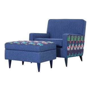 Paul McCobb Chair + Ottoman For Sale