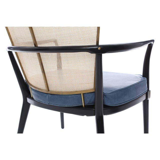 1950s 1950s Bert England for Johnson Ebonized Lounge Chair For Sale - Image 5 of 7