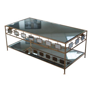 2-Tiered Gold & Mirrored Coffee Table
