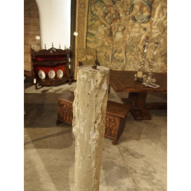 Carved Antique French Floor Candlestick Lamp, circa 1880 - Image 8 of 9