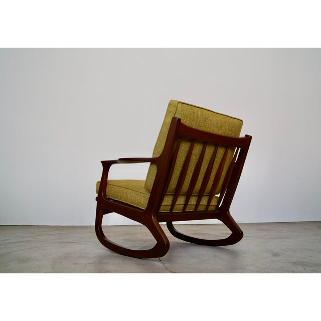 1950s Danish Modern Ib Kofod Larsen Rocking Chair For Sale - Image 5 of 13
