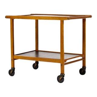 1960s Danish Modern Teak Bar Cart/Tea Trolley For Sale