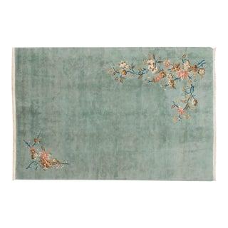 Vintage Japanese Art Deco Design Carpet - 6' X 9' For Sale