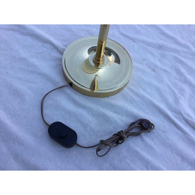 Vintage 1970s English Modern Brass Floor Lamp - Image 7 of 11