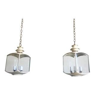 Chinoiserie Pavilion Lanterns - a Pair For Sale