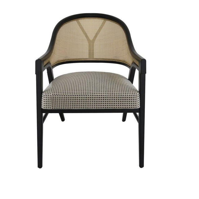 Paulo Antunes Contemporary Dining Chairs in Cane and Solid Wood - Set of 4 For Sale - Image 4 of 7