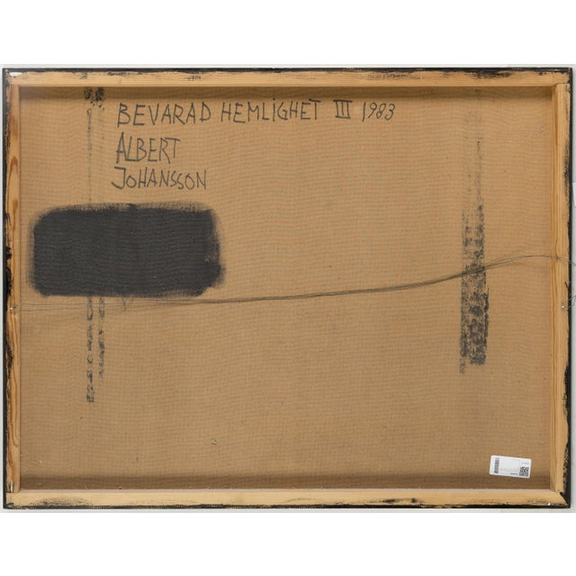 Abstract Albert Johansson, Mixed-Media on Canvas, Sweden, 1983 For Sale - Image 3 of 5