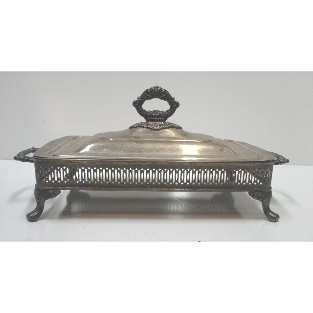 Silver-plated Ornate Baroque Lidded Serving Dish - Image 3 of 8