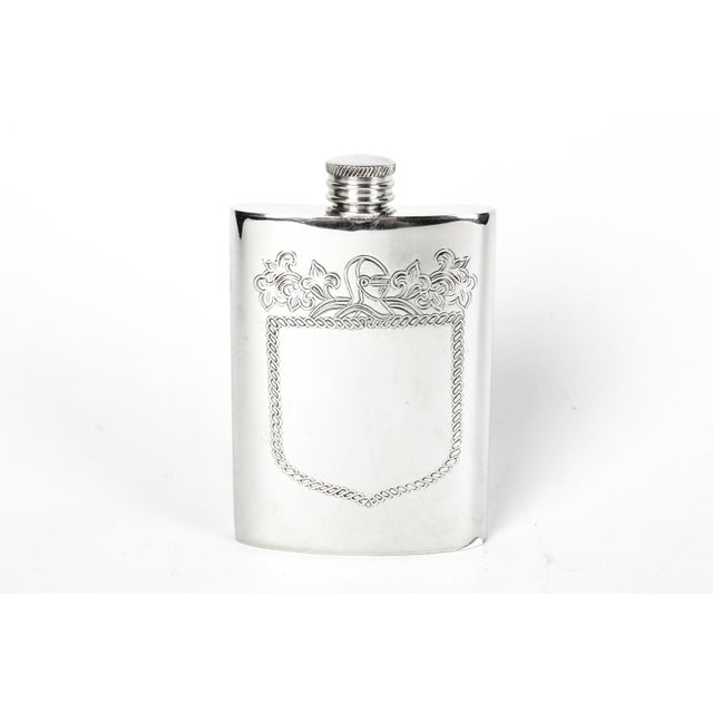 English Traditional English Silver Plate Sheffield Flask For Sale - Image 3 of 3