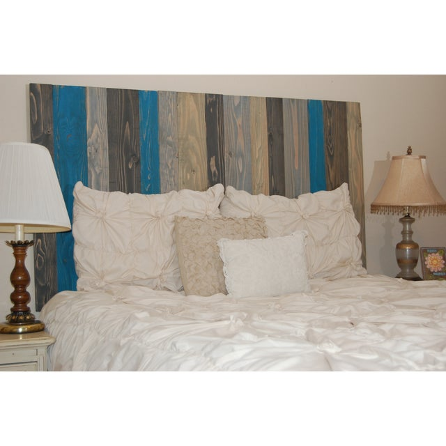 Twin Hanger Barn Walls Headboard in a Winter MIX Design - Image 3 of 6