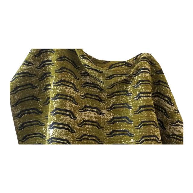 Virginia Kraft Bagha Fabric, Sample in Cypress For Sale