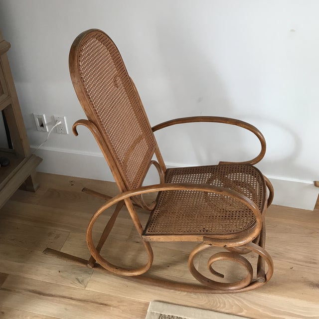 Spanish Bentwood Rocking Chair Rocker For Sale - Image 4 of 10