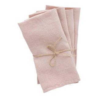 Rose Linen Napkins - Set of 4 For Sale