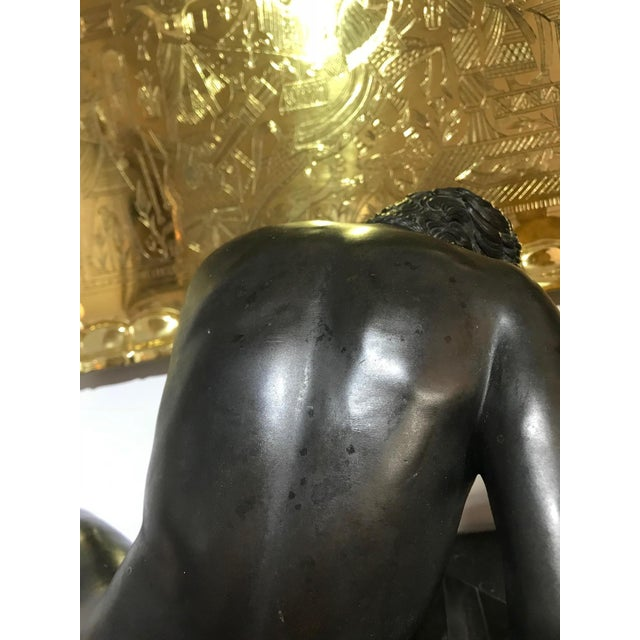 """19th Century """"The Dying Gaul"""" Bronze Statue Signed M Amadoi N 'Napoli' For Sale In West Palm - Image 6 of 13"""