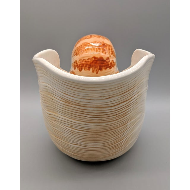 2000 - 2009 Fitz and Floyd Nautilus Wine Caddy/Planter For Sale - Image 5 of 9