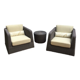 Patio Furniture by Janus Et Cie- 3 Pieces For Sale