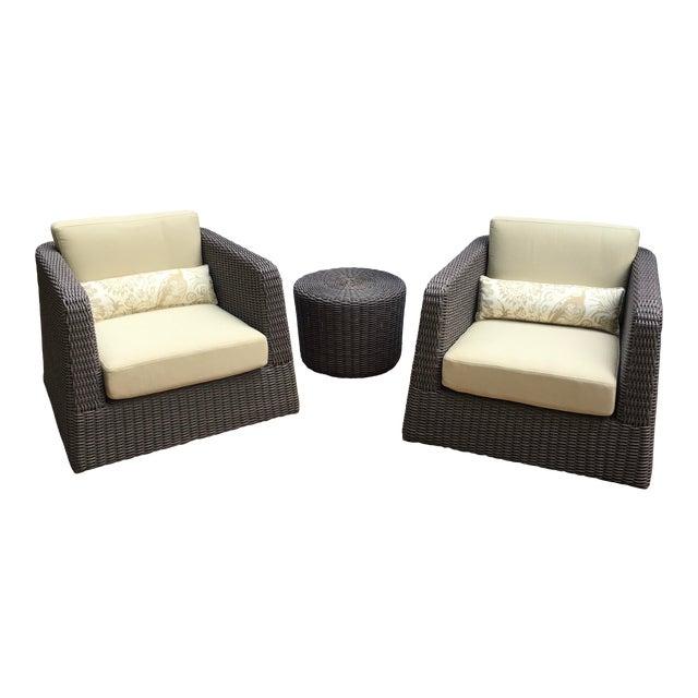 Patio Furniture by Janus Et Cie- 3 Pieces For Sale