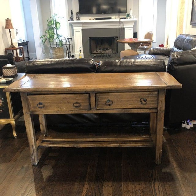 Sofa Table - Solid Wood For Sale - Image 11 of 12