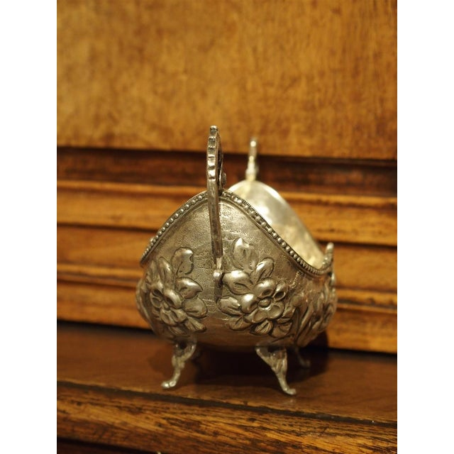 Small Antique Silver Gondola Form Serving Bowl From Germany, Circa 1900 For Sale - Image 10 of 13