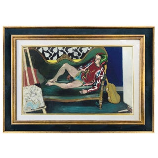 Arlequin by Maurice Brianchon Oil on Canvas For Sale