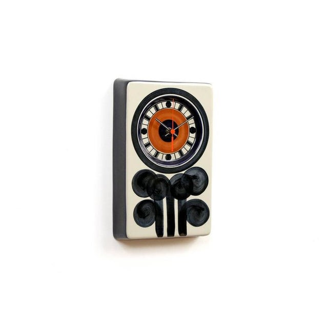 Graphic ceramic clock designed by Marianne Westman for the Swedish company Rorstrand. Westman designed a variety of...