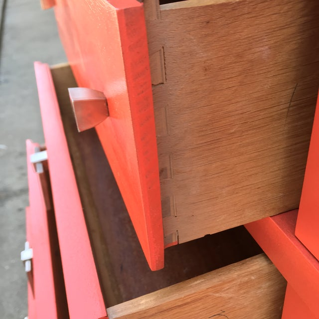Mid Century Restored Lacquered 12~Drawer Dresser For Sale In Los Angeles - Image 6 of 13