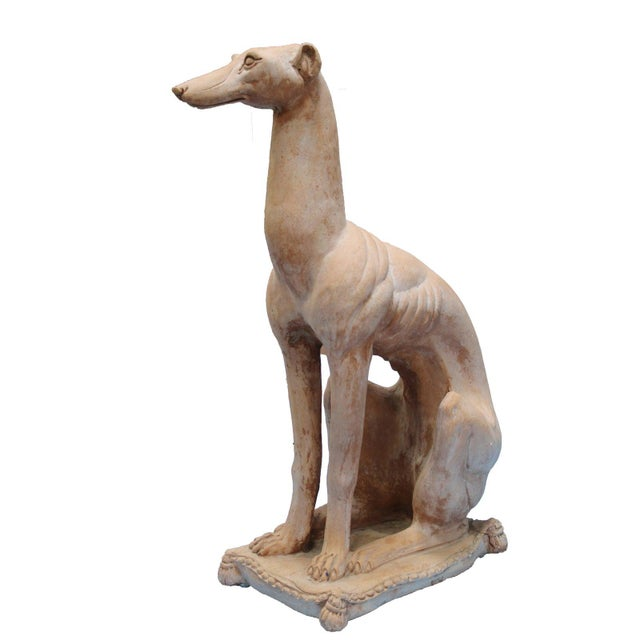 Hollywood Regency Italian Hollywood Regency Traditional Whippet Greyhound Dog Statues - a Pair For Sale - Image 3 of 13