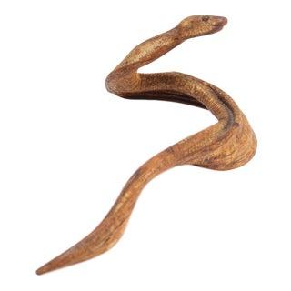 Folk Art Tree Root Snake Sculpture For Sale