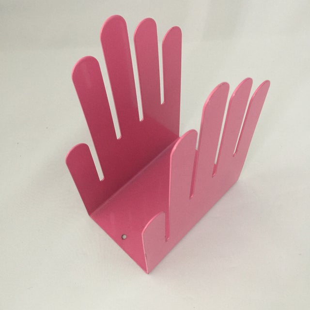 1980s 1980s Vintage Spectrum Division Hot Pink Hand Bookend For Sale - Image 5 of 6