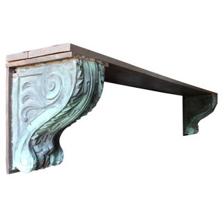 Architectural Copper Corbels, Pair