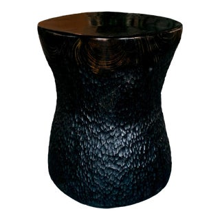 Sculptural Black Pine Accent Table by Daniel Pollock For Sale