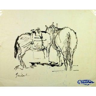 Jean-Baptiste Grancher, Pair of Horses For Sale