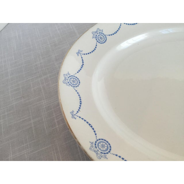 Blue & White Oval Imperial Porcelain Platter For Sale - Image 10 of 13