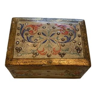 Vintage Florentine Hinged Box For Sale