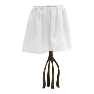 Jordan Mozer H57 Boudoir Lamp With Fabric Shade For Sale