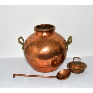 Ancient Egyptian Copper Pot With Cover and Ladle Preview