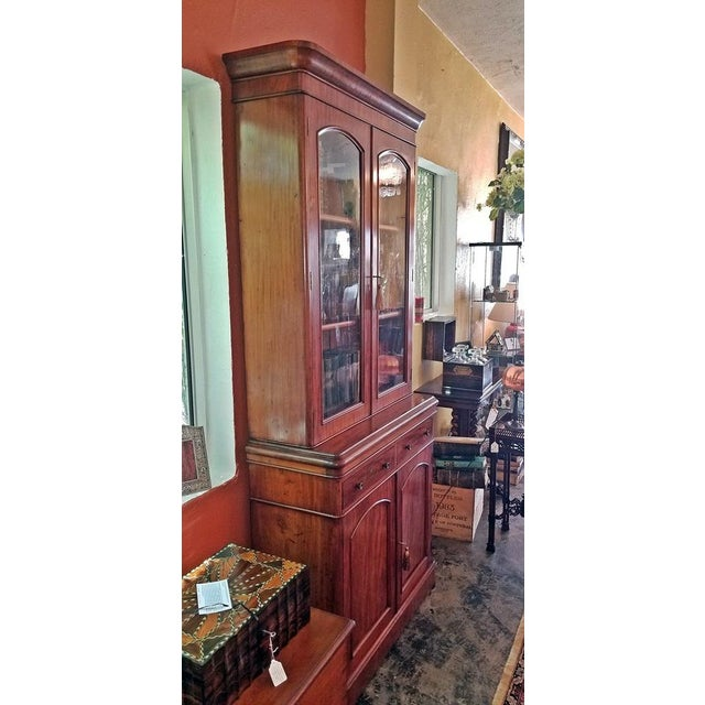 Wood 19th Century British William IV Mahogany Bookcase of Neat Proportions For Sale - Image 7 of 10