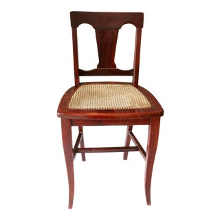 Mission Arts & Crafts Michigan Chair Co Grand Rapids Mahogany Cane Vanity Chair For Sale
