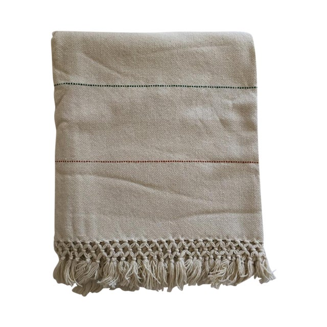 Natural Merino Wool Drapes/Bed Covers – A Pair For Sale