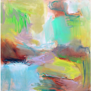 """Hideaway"" by Trixie Pitts Large Abstract Expressionist Oil Painting For Sale"