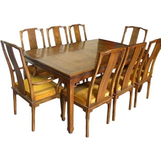 Century Furniture Cathay Collection Dining Table and Chairs Set