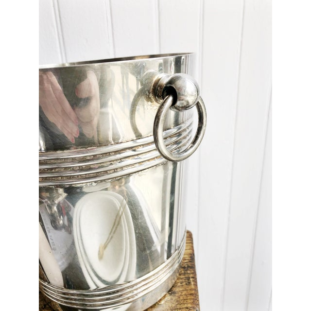 Vintage 1960s Christofle Silver Plated Champagne Bucket For Sale In New York - Image 6 of 8