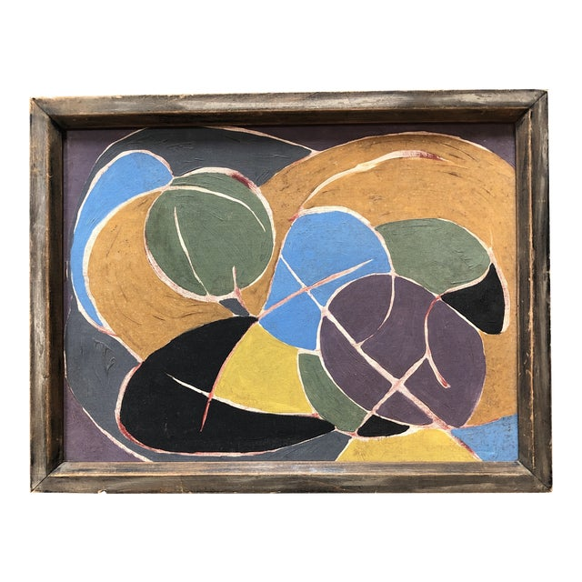 Mid Century Modern Original Abstract Painting For Sale