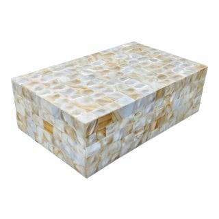 Jamie Young Inspired Mother of Pearl Keepsake Box