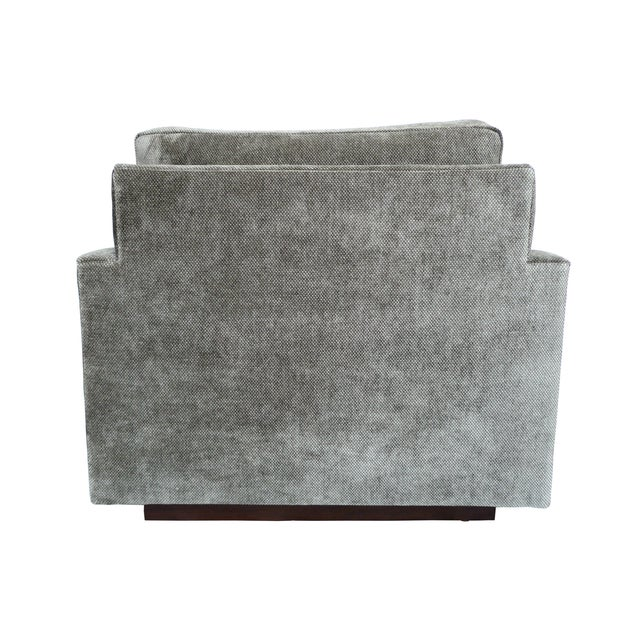 1970s Milo Baughman Gray Cube Chair - Image 5 of 8