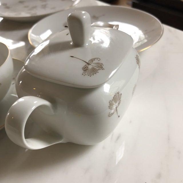 Porcelain Schonwald Dandelion Tea Cups Set - Set of 32 For Sale In Atlanta - Image 6 of 11