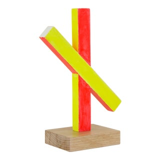 Contemporary Abstract Wood Sculpture For Sale
