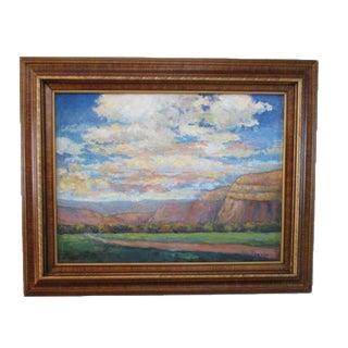 "Original Oil Fine Art ""On the Way to Durango"" Landscape Desert Scene Signed 24 X 18"