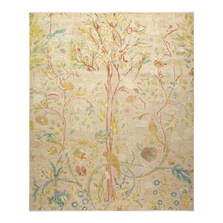 """Eclectic, Hand-Knotted Area Rug - Beige, 8' 2"""" X 9' 9"""""""