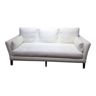 Transitional White Textile Standard Sofa